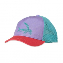 Women's Deconstructed Flying Fish Layback Trucker Hat by Patagonia in Wakefield Ri