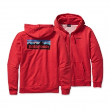 Men's P-6 Logo MW Full-Zip Hooded Sweatshirt by Patagonia