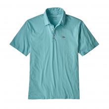 Men's Polo - Trout Fitz Roy by Patagonia in Golden Co