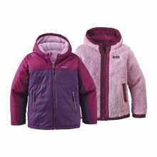 Girls' Reversible Fuzzy Puff Hoody