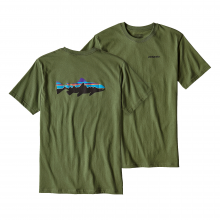 Men's Fitz Roy Trout Cotton T-Shirt by Patagonia in Highland Park Il