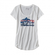 Women's Mane Land Cotton/Poly Scoop T-Shirt by Patagonia in Succasunna Nj