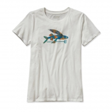 Women's Isle Wild Flying Fish Cotton Crew T-Shirt by Patagonia
