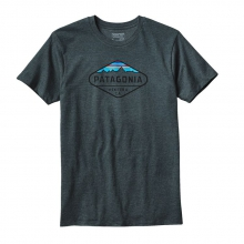 Men's Fitz Roy Crest Cotton/Poly T-Shirt by Patagonia in Keene Nh