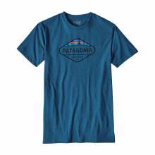 Men's Fitz Roy Crest Cotton/Poly T-Shirt by Patagonia in Kirkwood Mo