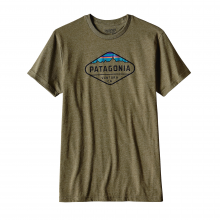 Men's Fitz Roy Crest Cotton/Poly T-Shirt by Patagonia in Sylva Nc