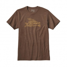 Men's Pinstripe Flying Fish Cotton/Poly T-Shirt by Patagonia