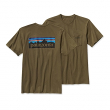 Men's P-6 Logo Cotton Pocket T-Shirt by Patagonia in Metairie La