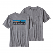 Men's P-6 Logo Cotton Pocket T-Shirt by Patagonia in Miamisburg Oh