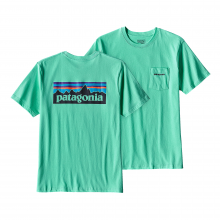 Men's P-6 Logo Cotton Pocket T-Shirt by Patagonia in Heber Springs Ar