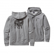 Men's Illustrated Buffalo MW Full-Zip Hooded Sweatshirt by Patagonia in Wakefield Ri