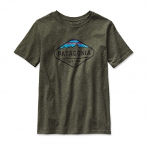 Boys' Fitz Roy Crest Cotton/Poly T-Shirt by Patagonia