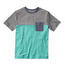 Boys' Cap Daily Colorblock Tee by Patagonia in Wakefield Ri
