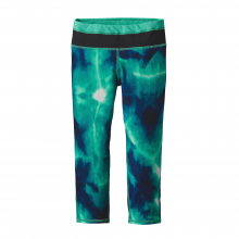 Girls' Centered Crop Tights by Patagonia in Succasunna Nj
