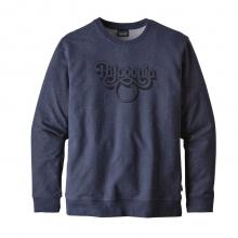 Men's Groovy Type MW Crew Sweatshirt by Patagonia