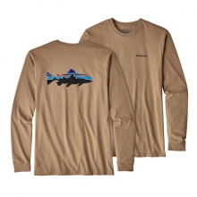 Men's L/S Fitz Roy Trout Cotton T-Shirt by Patagonia