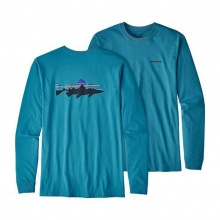 Men's L/S Fitz Roy Trout Cotton T-Shirt by Patagonia in Heber Springs Ar