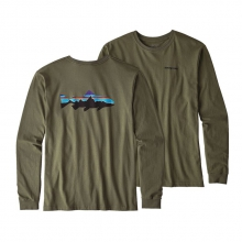 Men's L/S Fitz Roy Trout Cotton T-Shirt by Patagonia in Missoula Mt