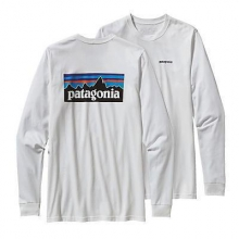 Men's L/S P-6 Logo Cotton T-Shirt by Patagonia in Iowa City Ia