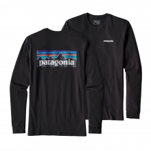 Men's L/S P-6 Logo Cotton T-Shirt by Patagonia