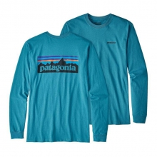 Men's L/S P-6 Logo Cotton T-Shirt by Patagonia in Dawsonville Ga