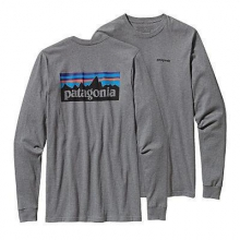 Men's L/S P-6 Logo Cotton T-Shirt by Patagonia in Madison Al