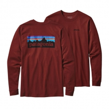 Men's L/S P-6 Logo Cotton T-Shirt by Patagonia in Alpharetta Ga