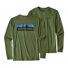Men's L/S P-6 Logo Cotton T-Shirt by Patagonia in Greenville Sc