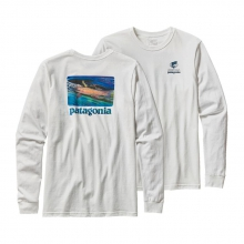 Men's L/S World Trout Slurped Cotton T-Shirt by Patagonia