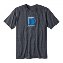 Men's Live Simply Mornings Cotton/Poly Responsibili-Tee by Patagonia in Alexandria La