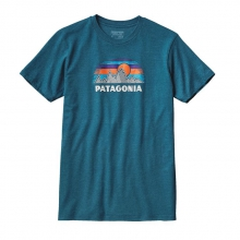 Men's Woven Fitz Roy Cotton/Poly T-Shirt by Patagonia