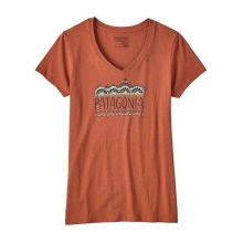 Women's Femme Fitz Roy Cotton V-Neck T-Shirt by Patagonia in Sioux Falls SD