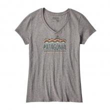 Women's Femme Fitz Roy Cotton V-Neck T-Shirt by Patagonia in Prescott Az