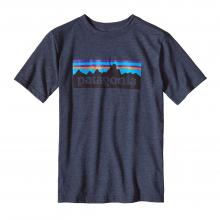 Boys' P-6 Logo Cotton/Poly T-Shirt by Patagonia