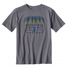 Boys' Pointed West Cotton/Poly T-Shirt by Patagonia in Oxford Ms