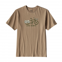 Men's Live Simply Cargo Bike Cotton T-Shirt by Patagonia