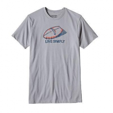 Men's Live Simply Handplane Cotton/Poly T-shirt by Patagonia