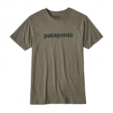 Men's Text Logo Cotton/Poly T-Shirt by Patagonia