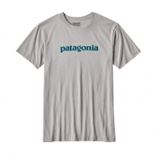 Men's Text Logo Cotton/Poly T-Shirt by Patagonia in Alexandria La