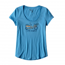 Women's Live Simply Market Bike Cotton Scoop T-Shirt