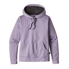 Women's Outline Text Logo PolyCycle Hoody by Patagonia in Succasunna Nj