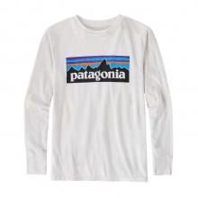 Boys' L/S P-6 Logo Cotton/Poly T-Shirt by Patagonia
