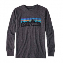 Boys' L/S P-6 Logo Cotton/Poly T-Shirt by Patagonia in Opelika Al