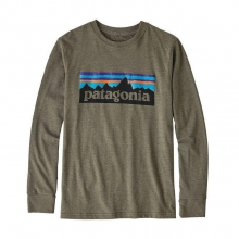 Boys' L/S P-6 Logo Cotton/Poly T-Shirt by Patagonia in Montgomery Al