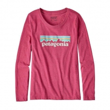 Girls' L/S Pastel P-6 Logo Cotton/Poly T-Shirt by Patagonia