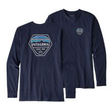 Men's L/S Fitz Roy Hex Cotton/Poly Responsibili-Tee by Patagonia in Alexandria La