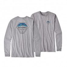 Men's L/S Fitz Roy Hex Cotton/Poly Responsibili-Tee by Patagonia