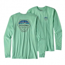 Men's L/S Fitz Roy Hex Cotton/Poly Responsibili-Tee by Patagonia in Shreveport La