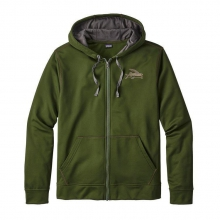 Men's Small Flying Fish PolyCycle Full-Zip Hoody