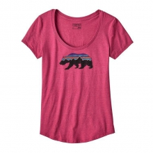 Women's Fitz Roy Bear Cotton/Poly Scoop T-Shirt by Patagonia in Lewiston Id